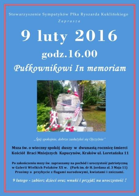 Uroczystości w 12 rocznicę śmierci płk. Ryszarda Kuklińskiego