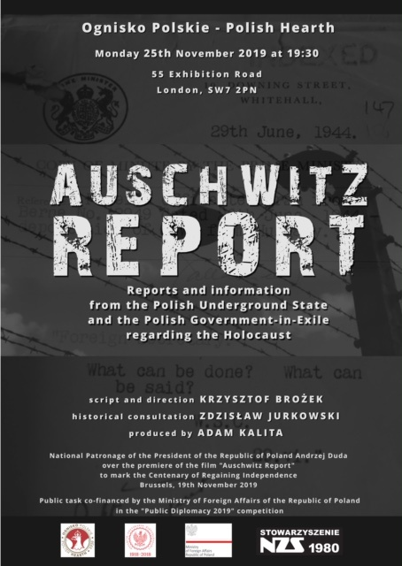 Raport z Auschwitz - projekcja w Londynie