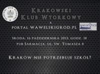 Kraków nie potrzebuje szkół? (w ramach cyklu Debata Krakowska) - winieta szkoły